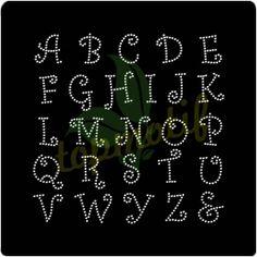 Korean lowercase alphabet Iron On Transfer For Tee - Topmotif Dot Patterns, String Art Patterns, Alphabet Letter Templates, Letter Art, Rhinestone Art, Rhinestone Transfers, Dot Designs, Silhouette Clip Art, Paper Embroidery
