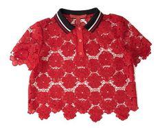 Polo en coton avec dentelle Hilfiger Collection