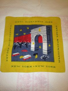 Vintage Tammis Keefe New York Washington Square Hankie by Colect4u