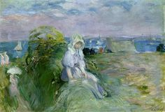 Berthe Morisot, On the Cliff at Portrieux, 1894.