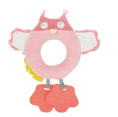 Mademoiselle et Ribambelle Owl Teether by Moulin Roty
