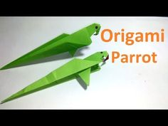 Origami Parrot:Amazing Origami Parrot Making Tutorial|Paper Parrot Bird for beginners making - YouTube