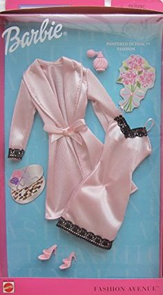 Barbie Fashion Avenue Pampered in Pink Fashion Clothes w Lingerie (Housecoat, Slip & More) Outfit Barbie Clothes Patterns, Vintage Barbie Clothes, Doll Clothes Barbie, Clothing Patterns, Barbie Doll Set, Barbie Dress, Ken Doll, Accessoires Barbie, Barbie Playsets