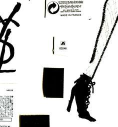 SAINT LAURENT fall 2015 : illustration by akiko hiramatsu