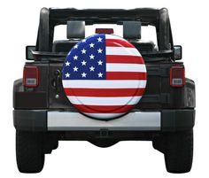 American Flag Rigid Tire Cover by Boomerang - Designer Series