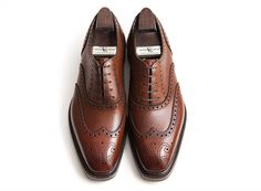 467de1230cc3 Gaziano   Girling Rothschild in chestnut hatch grain with Ridgeway soles.