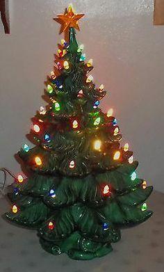 Atlantic Mold Ceramic Christmas Tree Vintage Musical Box Base Japan