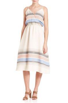 Suno Striped V-Neck Midi Dress ($895)