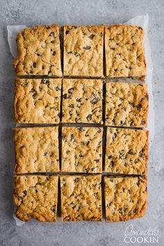 These peanut butter chocolate chunk bars are actually a basic chocolate chip cookie dough with the addition of peanut butter.