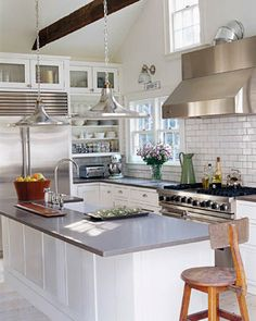 White Kitchen Grey Countertop the perfect cottage kitchen | room: kitchens | pinterest | cottage