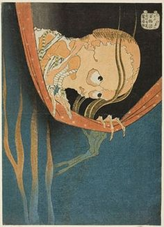 Ghosts and Demons in Japanese Prints   The Art Institute of Chicago. Katsushika Hokusai. Kohada Koheiji, from the series One Hundred Stories (Hyaku monogatari), c. 1831. Clarence Buckingham Collection.