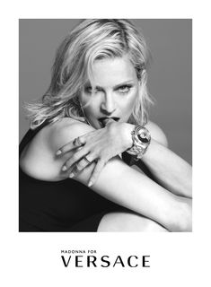 Exclusive and unmistakable, the #Versace Dylos watch in a limited edition of 500 pieces worldwide is an authentic jewellery-timepiece. Discover more on versace.com #VersaceWatches  Talent: Madonna Photography: Mert Alas & Marcus Piggott Art Director: Giovanni Bianco-Studio65 Stylist: Jacob K Hair: Garren Make-up: Lucia Pieroni