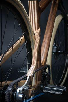 I love these wood frame rides! Niner Bikes's album: Wooden Bike. Wooden Bicycle, Wood Bike, Pimp Your Bike, Bici Fixed, Range Velo, Push Bikes, Bmx Bikes, Bike Details, Urban Bike
