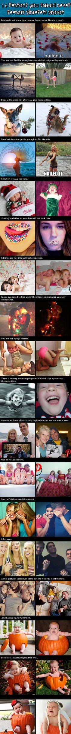 16 Reasons You Should Never Reenact Pinterest Photos…hilarious!!
