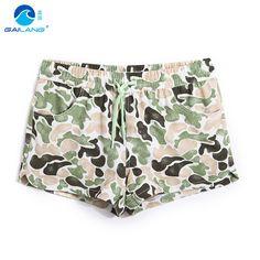Board shorts women swimsuit short feminino polyester flower lined beach surfing jogger running shorts praia Camouflage sexy girl