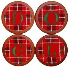 Noel Needlepoint Coasters in Red by Smathers & Branson. These coasters are perfect for the Holiday season; a piece you'll treasure season after season! #SmathersBranson #preppy #Christmas #coasters http://www.countryclubprep.com/accessories/coasters/noel-needlepoint-coasters-in-red-by-smathers-branson.html
