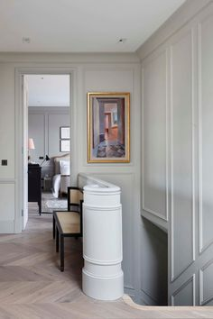 Traditional interior design - Exquisite penthouse in London with touches of Parisian style – Traditional interior design Interior Design Blogs, Interior Design Kitchen, Interior Design Inspiration, Interior Decorating, Design Ideas, Interior Walls, Design Design, Interior Design London, Stair Design