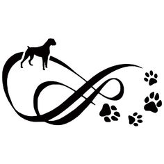 German Shepherd Infinity With Paw Prints Die-Cut Decal Car Window Wall Bumper Phone Laptop Art And Illustration, Dog Tattoos, Tatoos, German Shepherd Tattoo, Dog Memorial Tattoos, Dachshund Funny, Silhouette Tattoos, Silhouette Cameo, Vinyl Decals