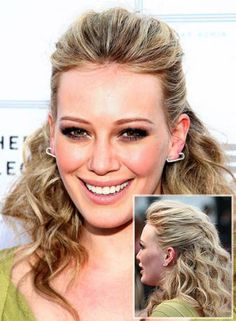 ... Down Curly Hairstyle1 Hilary Duff Curly Half Up Half Down Hairstyle