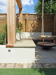 We Designed This Swing Garden To Be Functional And Low Maintenance With A  Playful Focus.