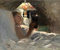 Georg Pauli 1855-1935 - By the Reading Lamp