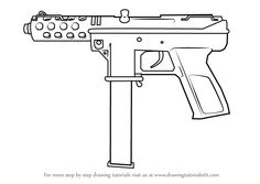 Learn How to Draw from Counter Strike (Counter Strike) Step by Step : Drawing Tutorials Graffiti Words, Graffiti Drawing, Graffiti Lettering, Tattoo Stencil Designs, Tattoo Stencils, Pencil Drawings Of Girls, Dark Art Drawings, Pistol Drawing, Avengers Coloring Pages