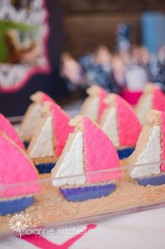 Sailboat Rice Krispies Treats at a Girly Nautical Baby Shower Nautical Food, Nautical Party, Angel Baby Shower, Baby Boy Shower, Baby Showers, Nautical Birthday Girls, Anchor Birthday, Baby First Birthday, First Birthday Parties