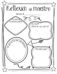 Bilingual teacher reflection and goal-setting sheet by Profe Emily - Freebie!