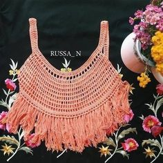 [Free Pattern] Breezy Crochet Top - Knit And Crochet Daily Bikinis Crochet, Crochet Bikini Top, Crochet Blouse, Crochet Video, Free Crochet, Crochet Vest Pattern, Crochet Patterns, Free Pattern, Crochet Summer Tops