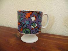 Vtg 1968 Holt Howard Floral Pedestal Tea Cup Coffee Demitasse EXC available on eBay #vintage