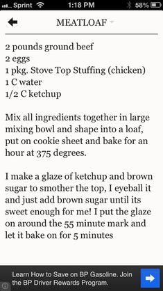 Best meatloaf recipe ever!!!!!