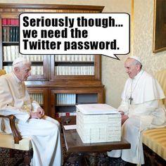Catholic humor #twitter #pope