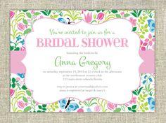 Bridal Shower Invitation  Garden Floral by CitrusPaperCo on Etsy, $10.00