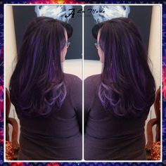 For the purple lovers  A light silver + purple balayage highlights on a dark eggplant purple base. Get a funky look before the new season begins #purple #hair #layers #haircut #wavy #blowdry #eggplant #color #purple #hairlove #base #purplebase #silver #highlights #balayage #balayagehighlights #newseason #newlook #instacolor #instahair #aveda #loreal #oribe #keratincomplex  #nyc #brooklyn #bayridge #alamodesalonandspa #hairsalon #7184911100