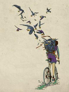 a girl in bike
