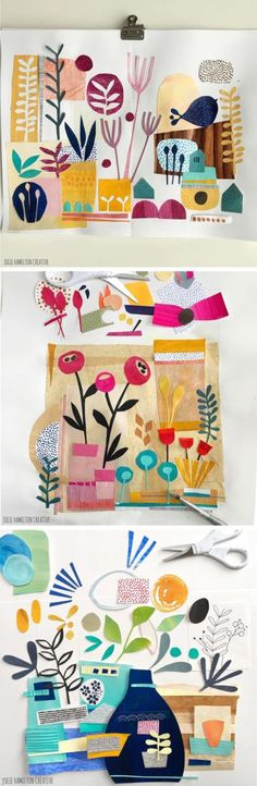 Julie Hamilton collage sketchbook