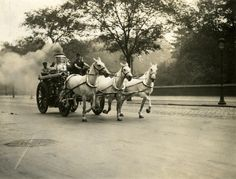N.Y. Fire Department, No. 76 Engine on way to Fire, 1914; Frederick H. Smyth Collection of Fire Photographs, PR 063, NYHS Image #83381d.