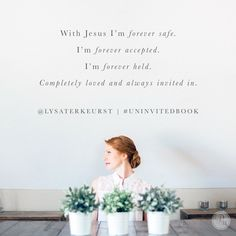 He made us to reach out not pull back. He made us to believe the best before assuming the worst. He made us to freely give grace, realizing we so desperately need it ourselves. He made us to add goodness, see the beautiful, and rest in the assurance of His lavish love for us. - Lysa TerKeurst #UninvitedBook