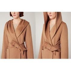 evaChic | The extremely versatile and timeless Max Mara Rialto Camel Hair Wrap Coat can be worn casually with distressed denim and a white tee, or elegantly layered over your office ensemble. http://www.evachic.com/product/max-mara-rialto-camel-hair-wrap-coat/