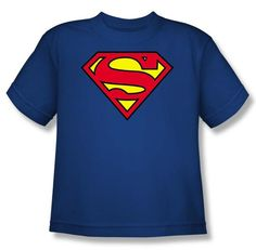 Kids Superman Classic Logo T-shirt Youth Royal Blue Tee Shirt Superman Kids T-shirts - Youth Kids Superman Classic Logo T-shirt Youth Royal Blue Tee