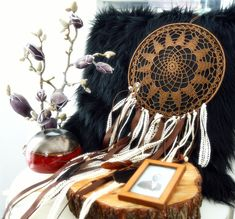 Excited to share the latest addition to my #etsy shop: Dream catcher http://etsy.me/2CwDQg9 #housewares #bedroom #bedding #brown #bridalshower #floral #kid #yes #bamboo
