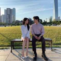 Image may contain: one or more people people sitting shoes tree sky and outdoor Korean Actresses, Korean Actors, Actors & Actresses, Korean Drama Best, Jin Goo, Korean Couple, Kdrama Actors, Drama Korea, Korean Celebrities