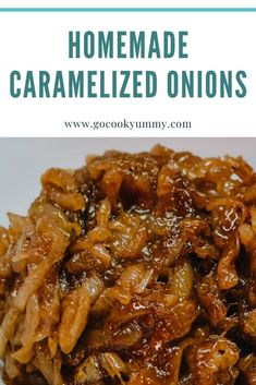 The Most Delicious Recipe of Homemade Caramelized Onions The best and easy way to caramelize the onions at home. The most delicious recipe of caramelized onions using balsamic glaze. Perfect dip to use for tasty burgers, sandwiches, pizza, taco and more. Best Brunch Recipes, Best Appetizer Recipes, Burger Recipes, Lunch Recipes, Appetizers, Easy Tart Recipes, Vegetarian Recipes Easy, Vegetable Recipes, Free Recipes