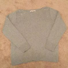Loft Gray Sparkle Sweater Size XL Loft Gray Sparkle Sweater Size XL. This sweater has never been worn. I got it from Loft and it fit great at the store but I was dieting so when I went to wear it, it was too big. I have the tags too but I had taken them off right before I tried it back on at home. LOFT Sweaters Crew & Scoop Necks