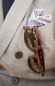pocket square and sunglasses
