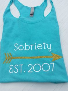 #Sobriety date #aa #recovery tank top #recovery shirt