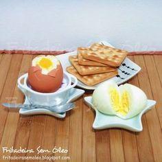 Ovos Cozidos e Ovos Quentes na AirFryer   Fritadeira sem Óleo - AirFryer