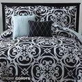 Kennedy 5-piece Reversible Black Comforter Set | Overstock.com Shopping - The Best Deals on Comforter Sets
