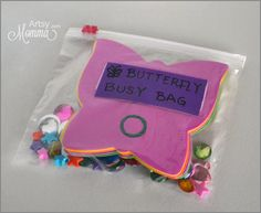 Butterfly Busy Bag for Preschoolers - so many skills packed into 1 little bag!