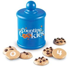 FREE counting & number matching game with chocolate chip cookies. Includes two levels of difficulty - match the cookies to the number or to the word!